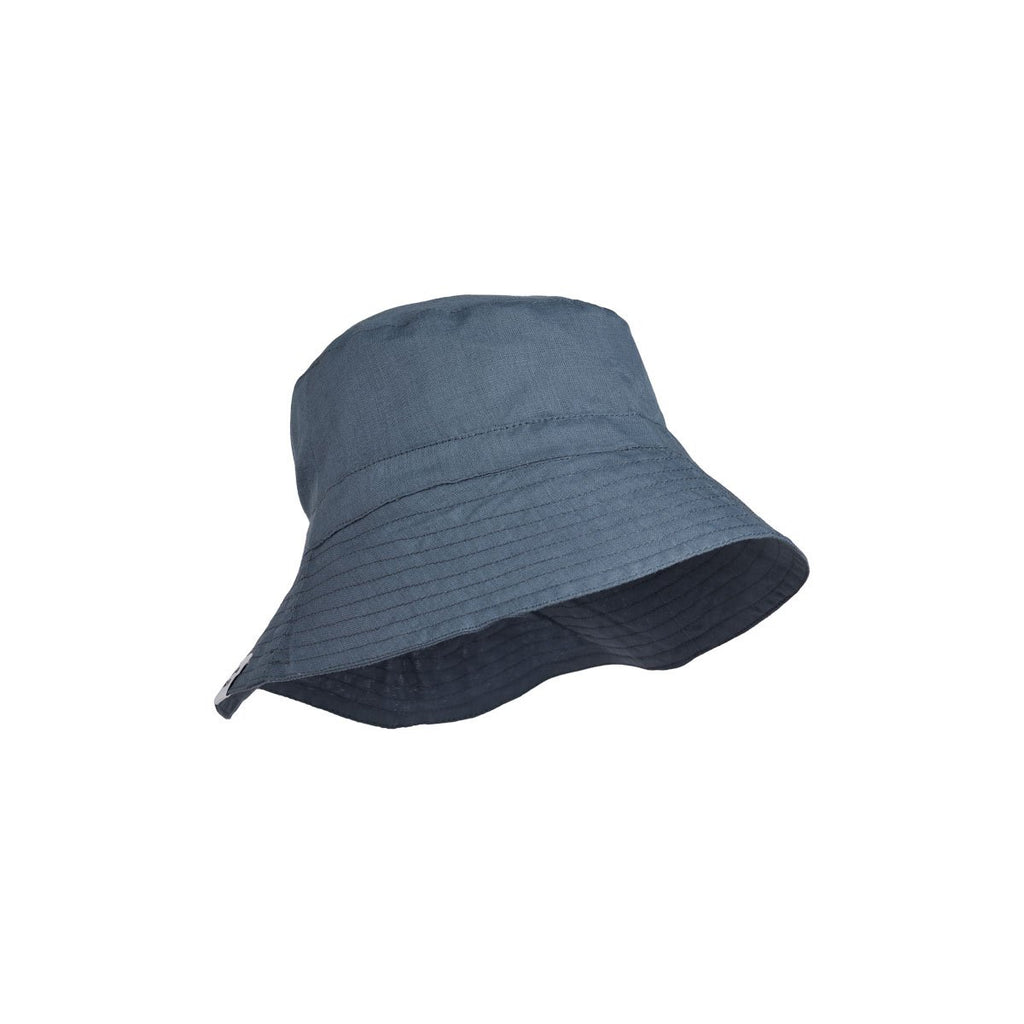 "Chapeau ""Bucket"" en lin - Blue wave"