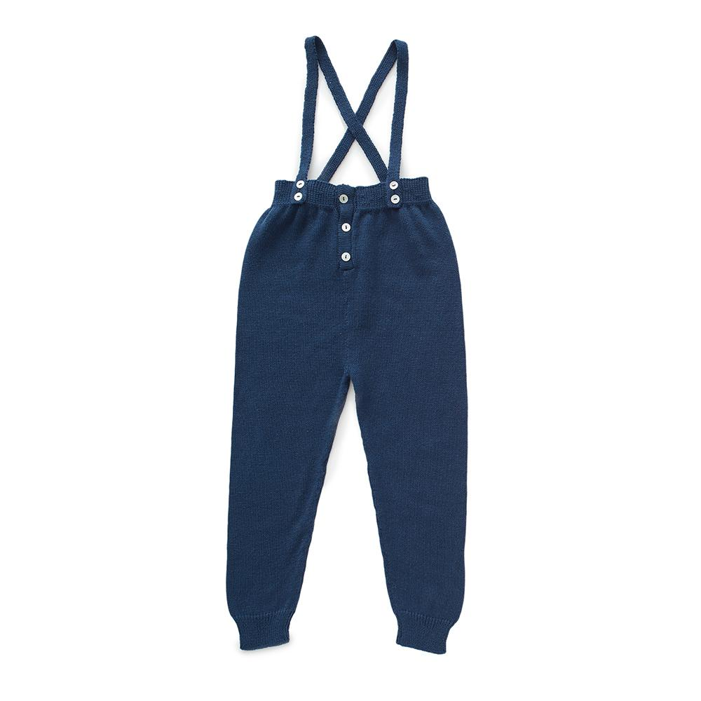 oeuf-ss18-suspender-pants-indigo_salopette navy Oeuf pima coton knit tricot blue marine