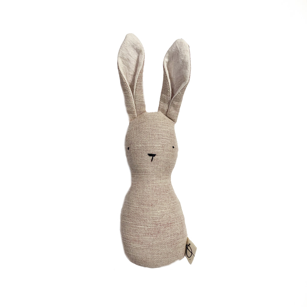Hochet lapin minimaliste - Faded red