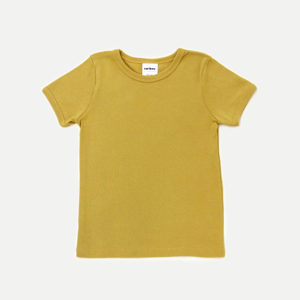 T-shirt coton bio - Moutarde