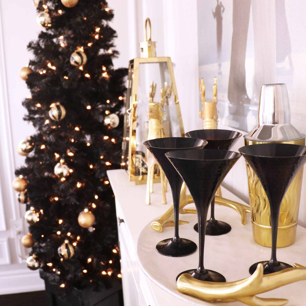 Black White Gold Side Table Christmas