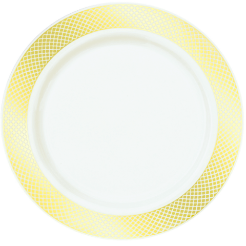 gold trim plastic dinner plates