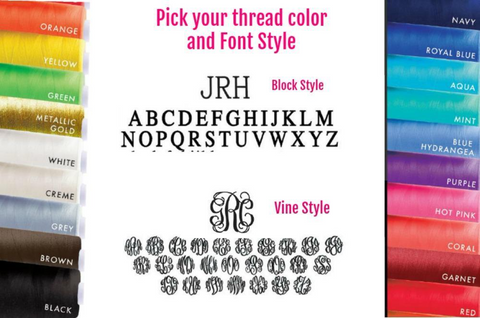 Monogram Thread and Font Choices