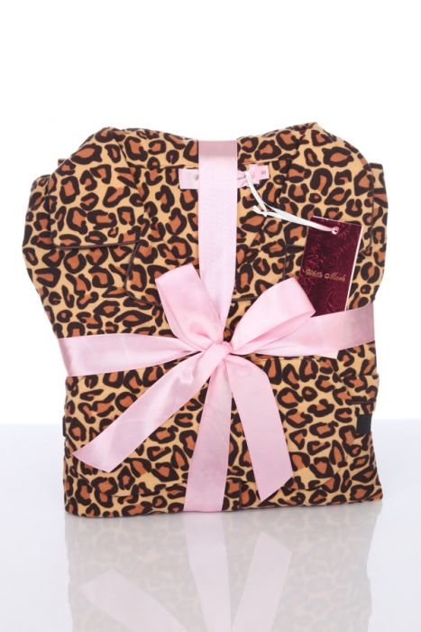 Three Piece Cozy Cheetah Pajama Set
