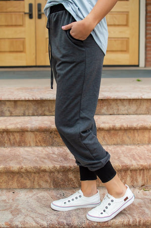 Accent Joggers | Charcoal and Black