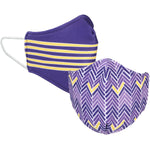 Purple and Gold Reversible Face Mask
