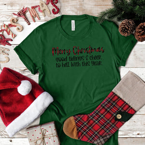 S - Good Tidings- Heather Grass Green-1007, Seasonal-Shop-Wholesale-Womens-Boutique-Custom-Graphic-Tees-Branding-Gifts