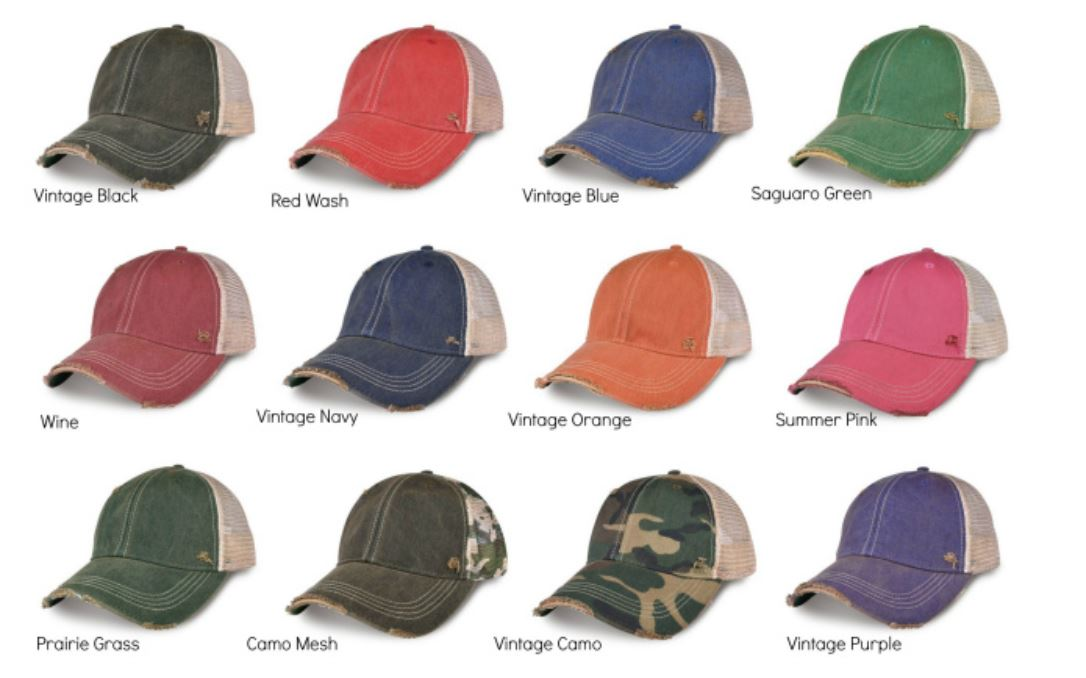 Game Day Vintage Distressed Trucker Cap with Soccer Patch.   12 Color Choices,Cap - Dirt Road Divas Boutique
