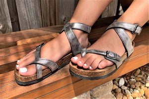 BORK Ankle Strap Sandals