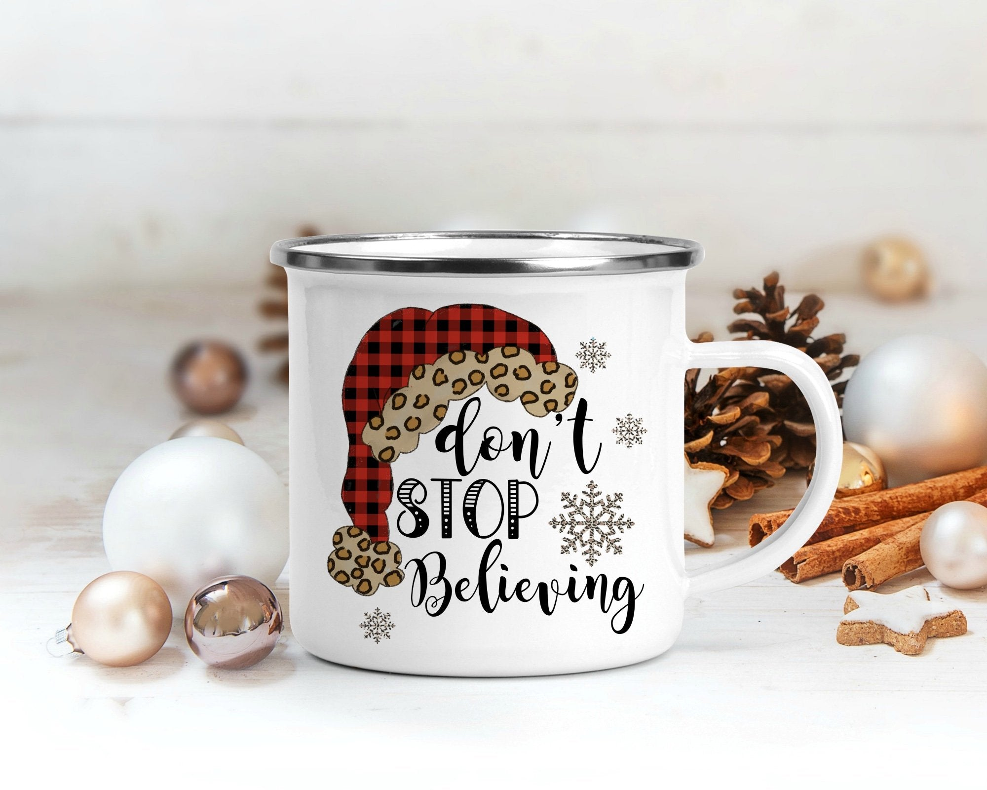 S-Don't Stop Believing Campfire Mug-Shop-Wholesale-Womens-Boutique-Custom-Graphic-Tees-Branding-Gifts