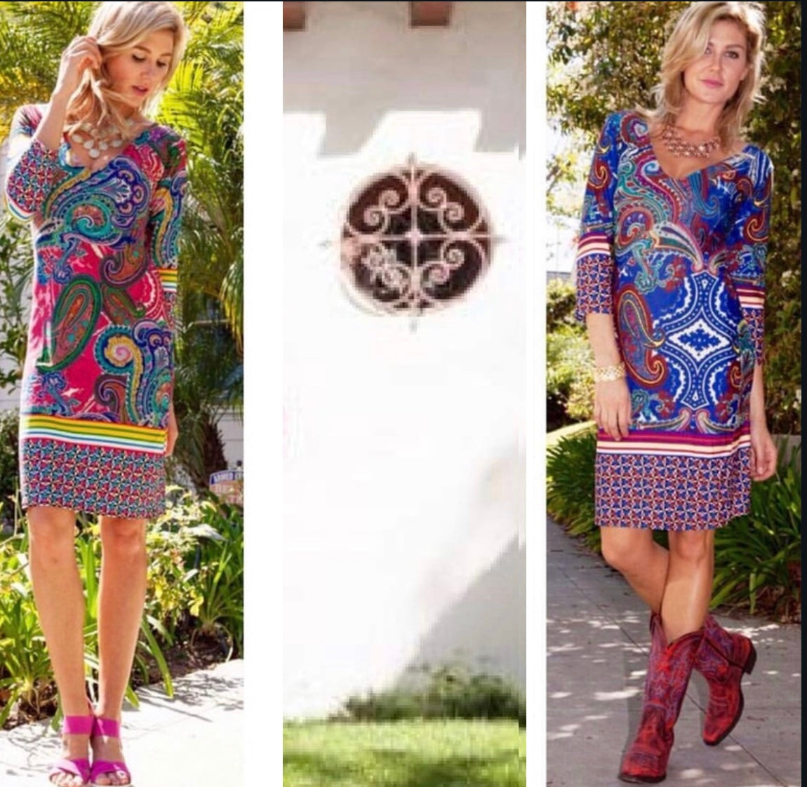 Rustic Ranch Dress in Berry or Navy