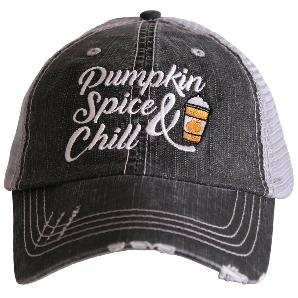 Pumpkin Spice and Chill Trucker Hats
