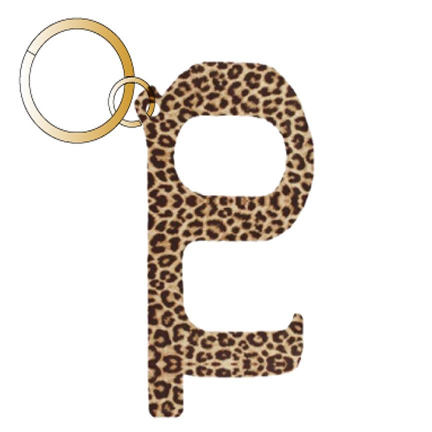 Brown Leopard Hands Free Wholesale Key Chain