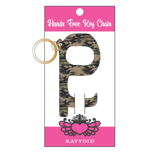Green Camo Hands Free  Key Chain
