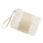 Ivory & Gold Leopard Wristlet Purse,Purses/Bags - Dirt Road Divas Boutique