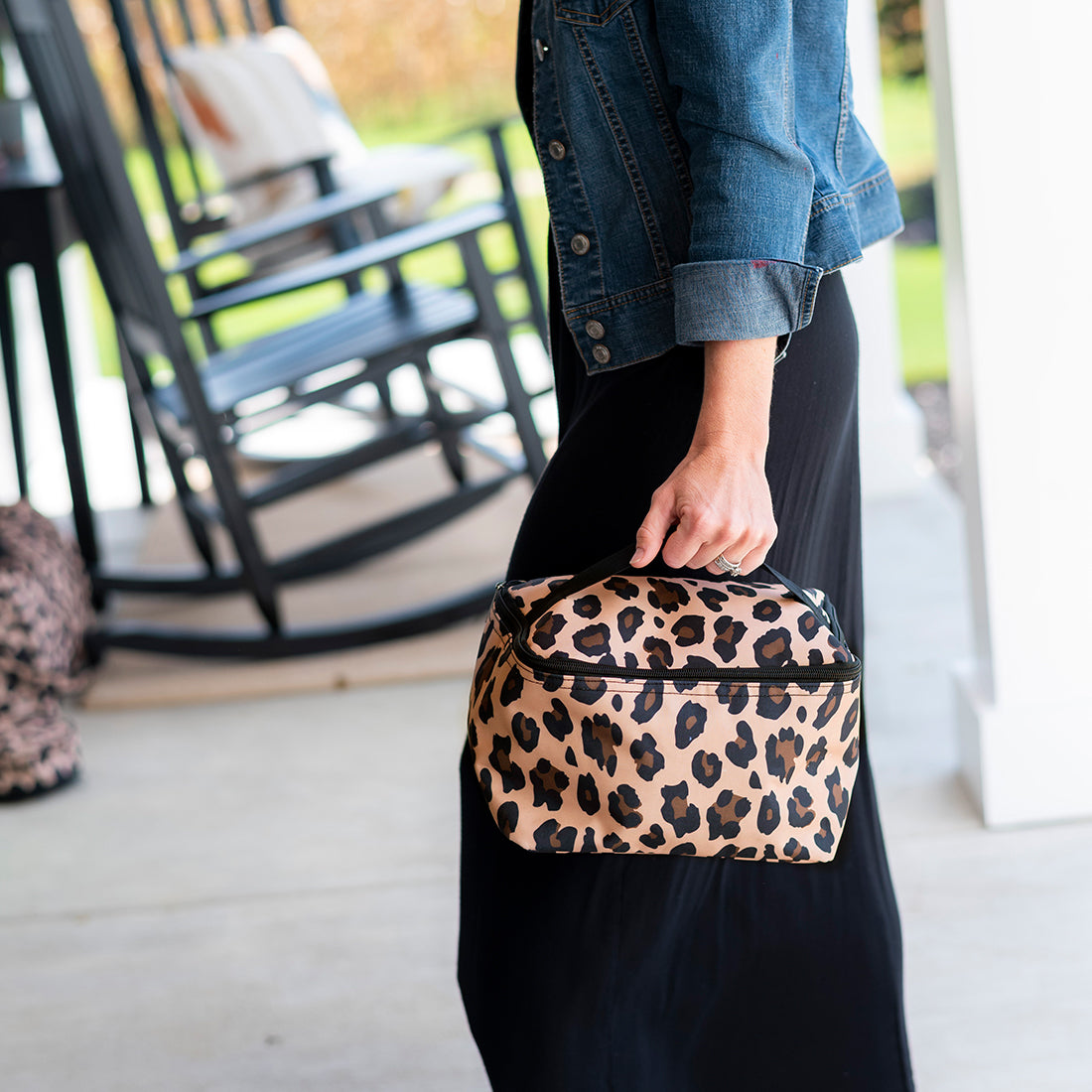 Wild Side Leopard Cosmetic Bag