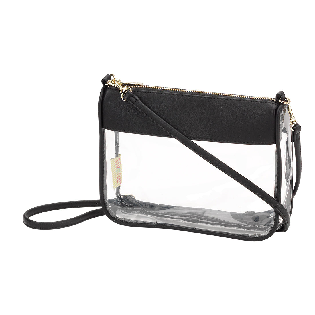Stadium Approved Clear Crossbody Purse in Black without Monogram,Purses - Dirt Road Divas Boutique