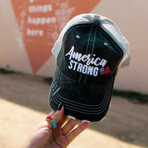 America Strong Women's Trucker Hat