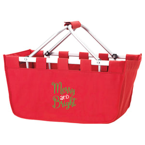 Merry & Bright Christmas Market Tote,Tote - Dirt Road Divas Boutique