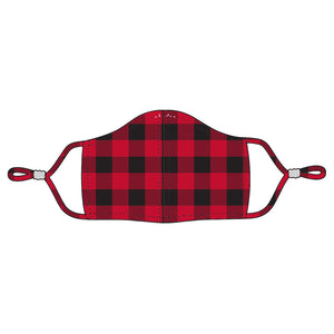 Buffalo Check Adjustable Adult Face Mask - Red/Black or White/Black