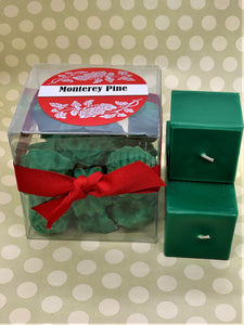 Texas General Square Candles - Monterey Pine