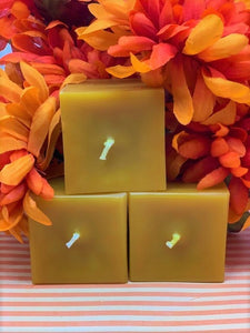 Texas General Square Candles - Pumpkin Giving