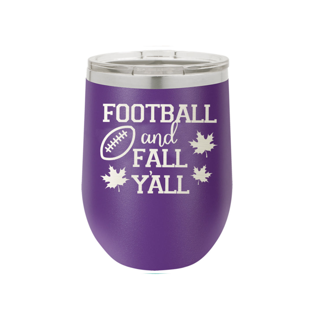 Football & Fall Y'all Insulated Wine Tumbler,Drinkware - Dirt Road Divas Boutique