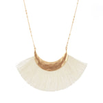 Sweet Cream Fringe Necklace