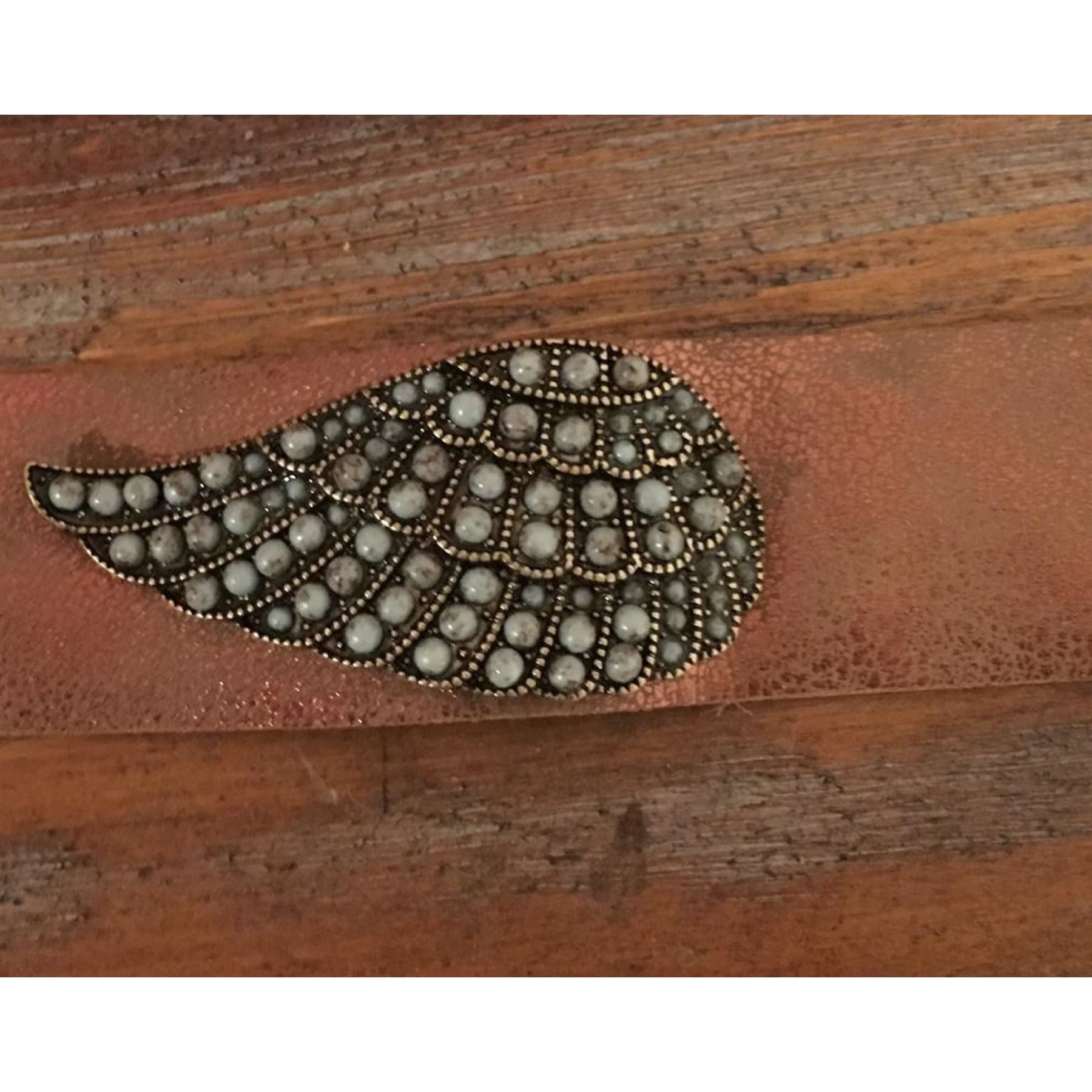 Angel Wing Metallic Leather Bracelet,Bracelet - Dirt Road Divas Boutique