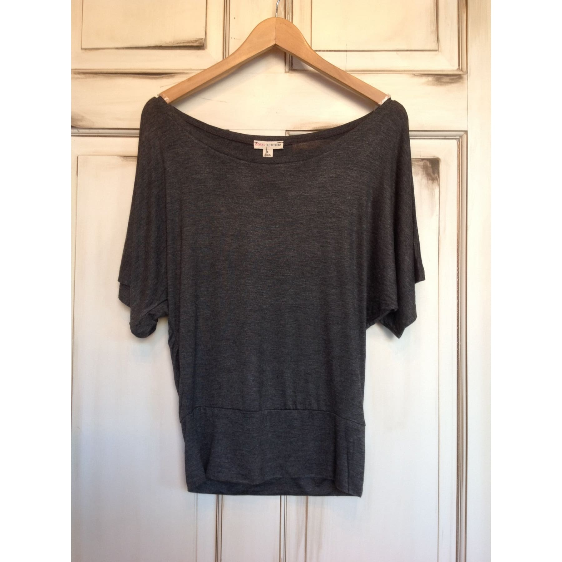 Basic Slouch Shirt - Charcoal / S