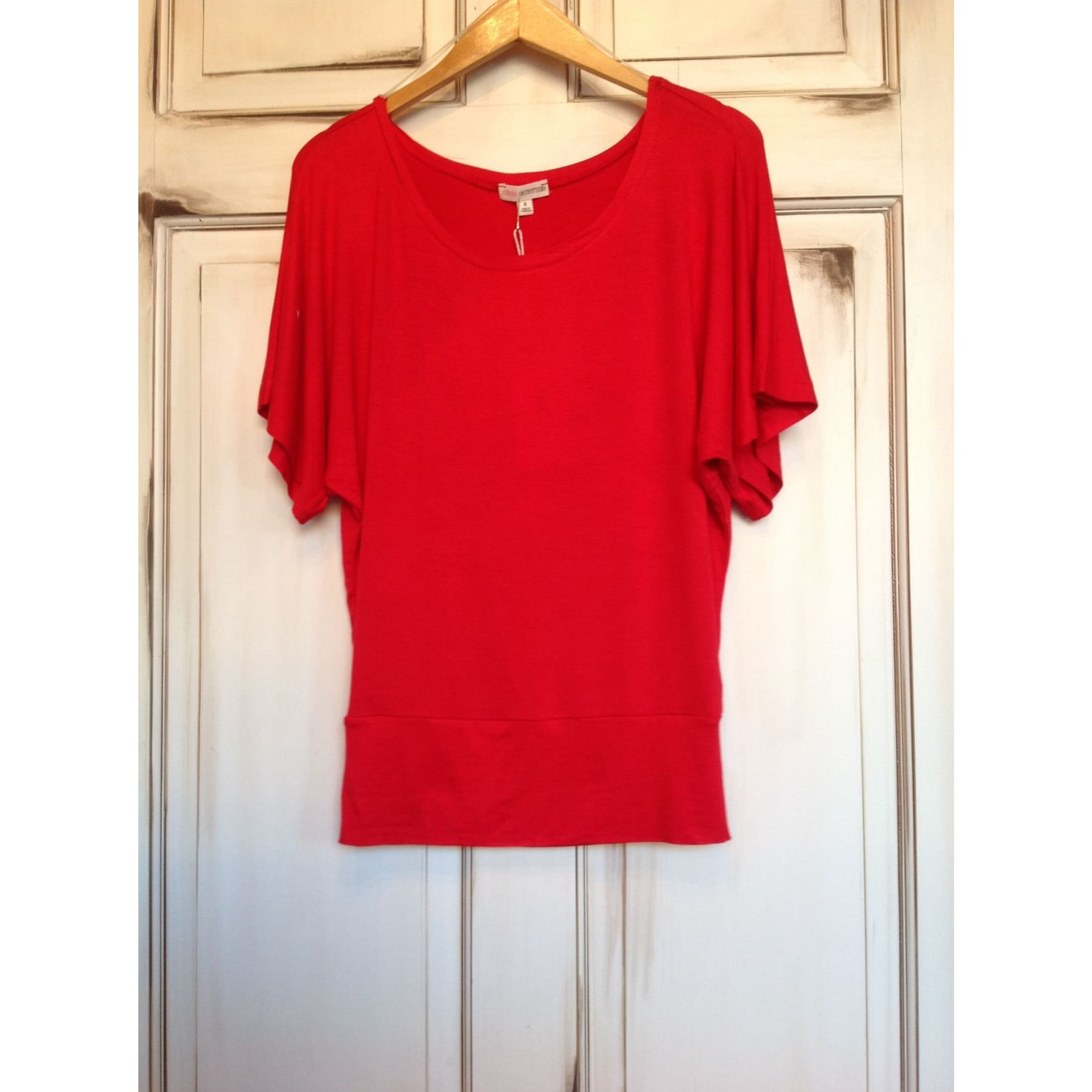 Basic Slouch Shirt - Red / S