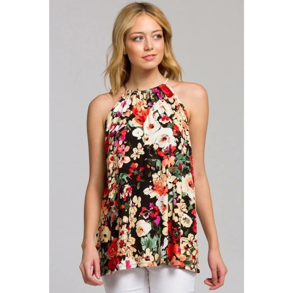 Blooming Beauty Floral Tank Top,Top - Dirt Road Divas Boutique