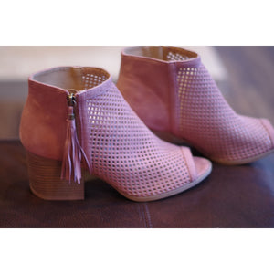 Blushing Bootie ~ Last Pair. ~ Size 10,Booties - Dirt Road Divas Boutique