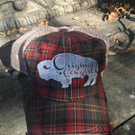 Buffalo Plaid Vintage Trucker Cap - Hats