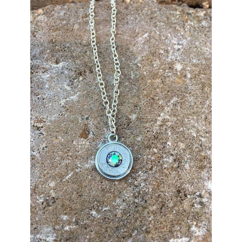 Bullet Necklace with Swarovski Crystals - Necklace