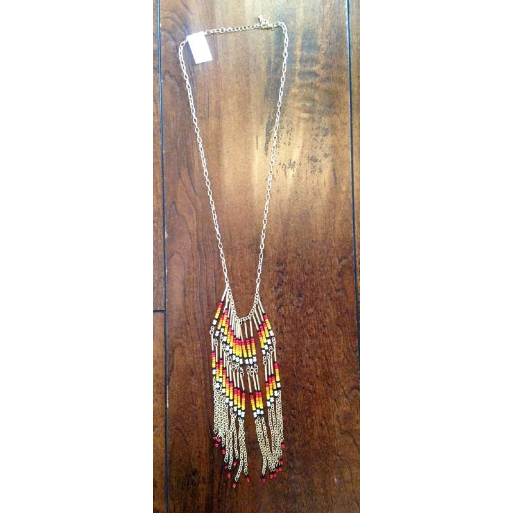 Cancun Beaded Fringe Necklace