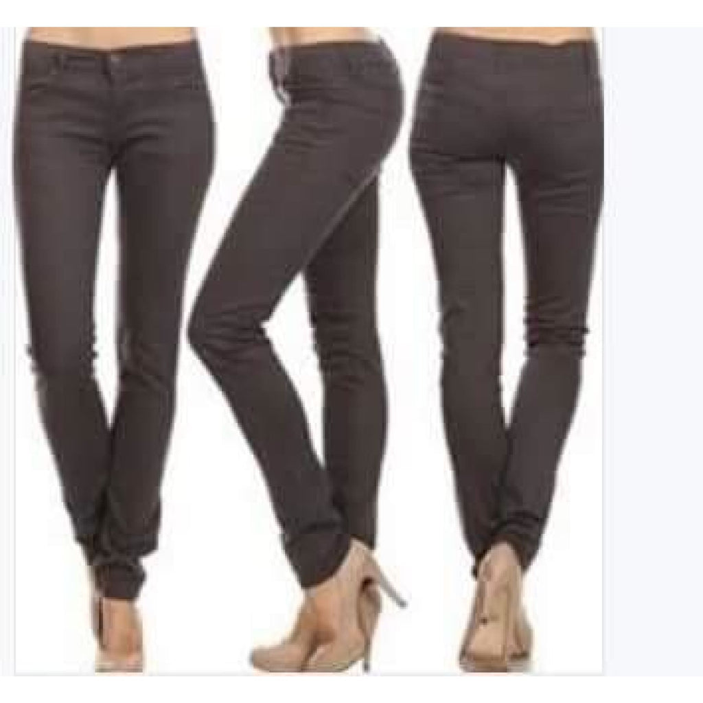 Charcoal Grey Skinny Jeans,Jeans - Dirt Road Divas Boutique