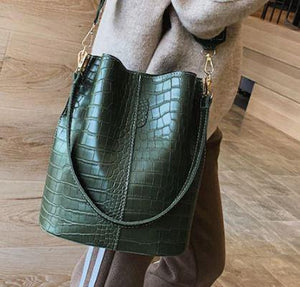 ClaudiaG Blake Shoulder Bag -Olive Croc