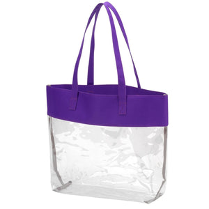 Clear Stadium Tote in Team Colors with Monogram,Tote - Dirt Road Divas Boutique