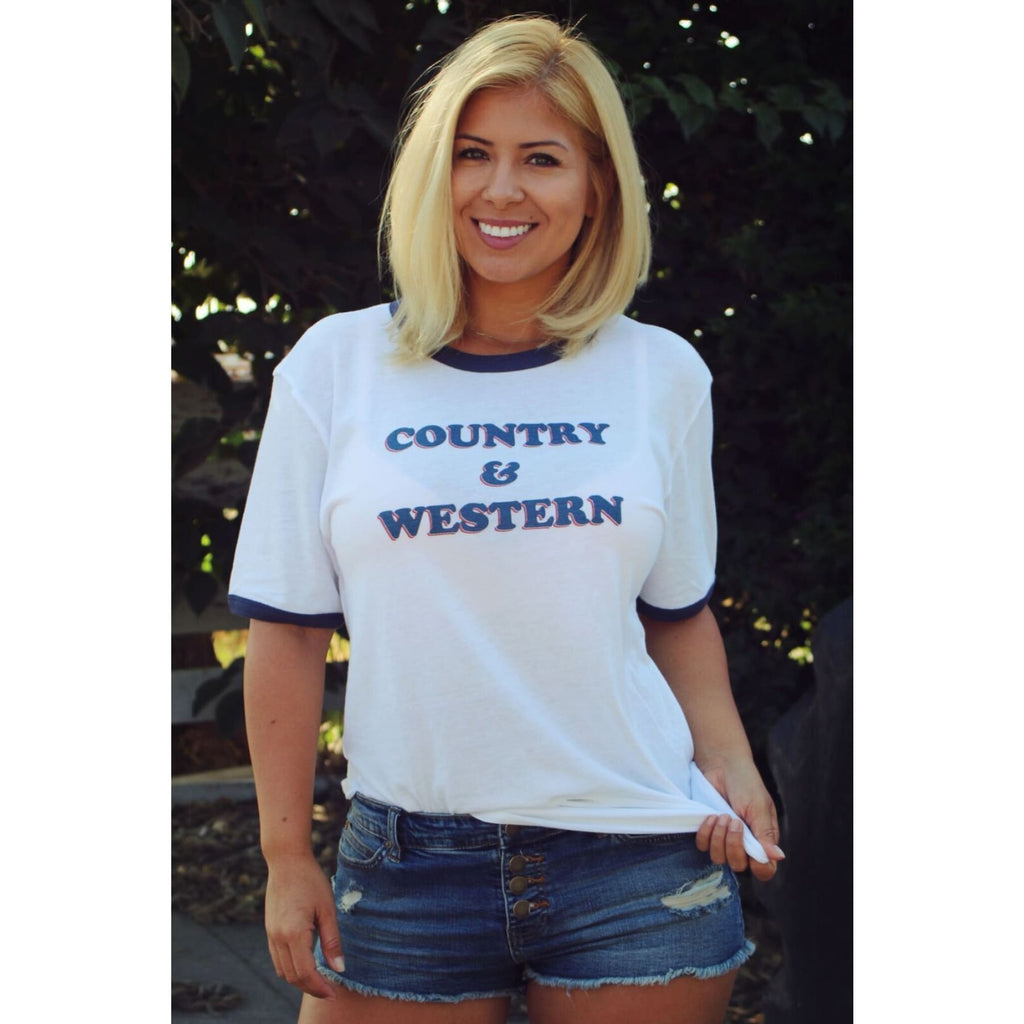 Country and Western Vintage Rodeo Tee,Graphic Tee - Dirt Road Divas Boutique