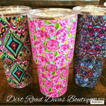 Designer Inspired Insulated Tumblers.,Drinkware - Dirt Road Divas Boutique