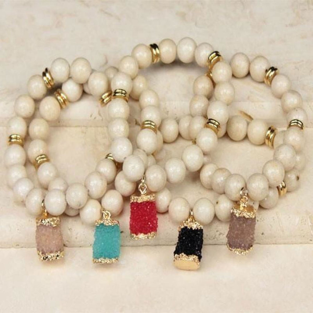 Druzy Barrel Bracelet,Bracelet - Dirt Road Divas Boutique