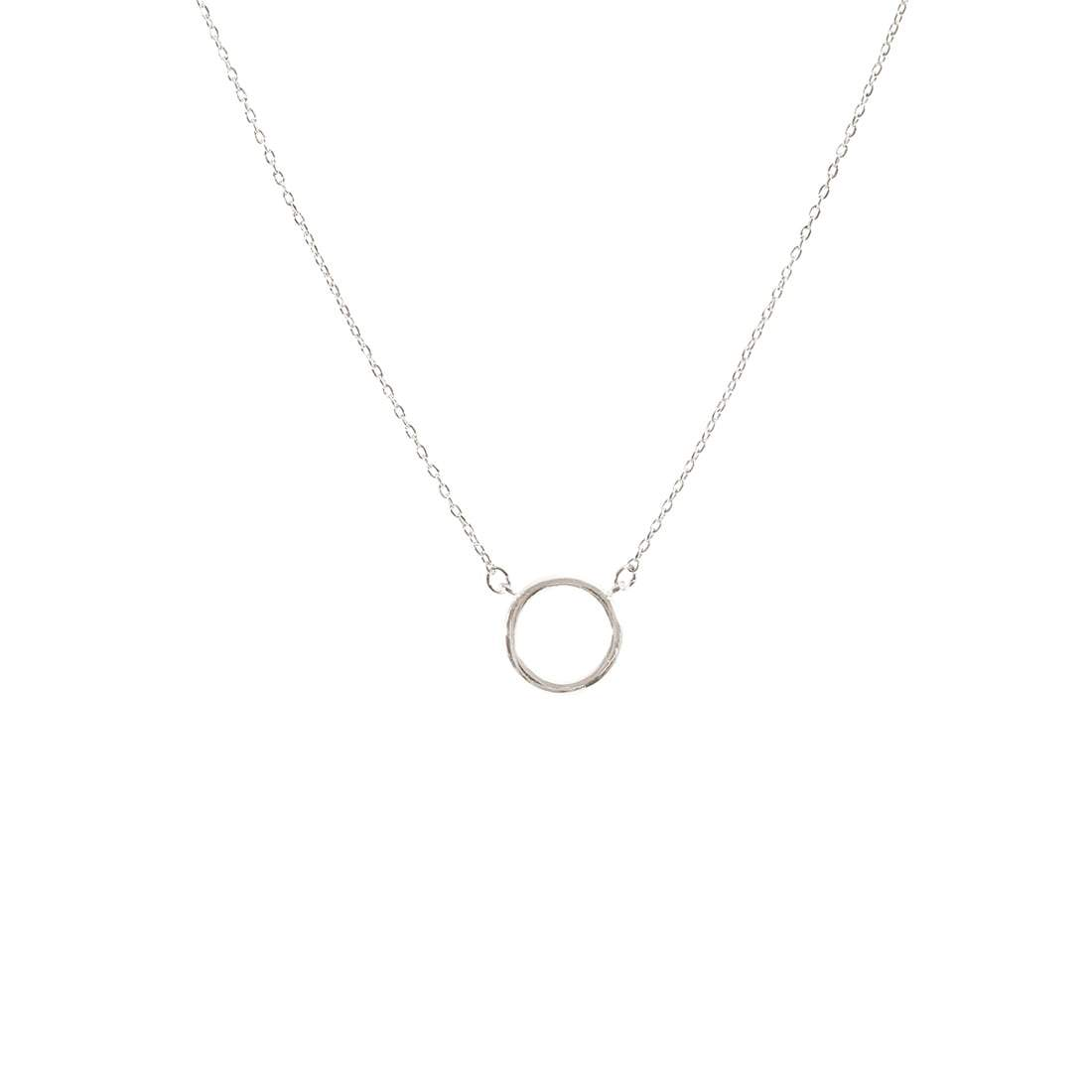 Single Circle Necklace in Silver or Gold