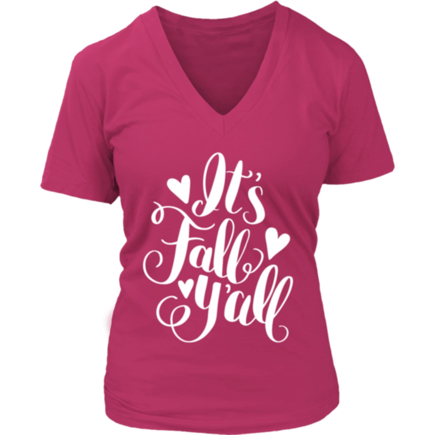 Fall Ya'll V neck Tee,Graphic Tee - Dirt Road Divas Boutique