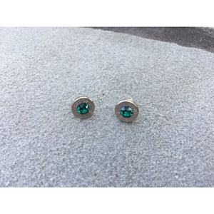 Handcrafted Bullet Earrings with colored Swarovski Crystal centers,Earrings - Dirt Road Divas Boutique