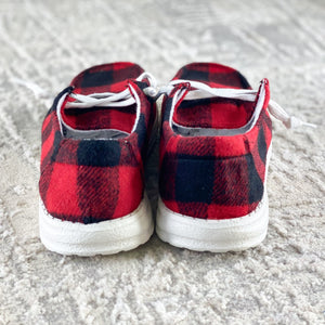 Very G Heather Sneaker in Red Buffalo Plaid