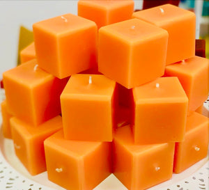 Texas General Square Candles - Tangelo