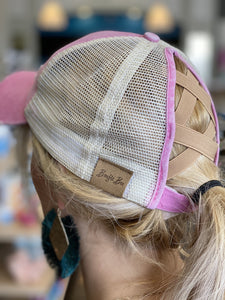 CrissCross Ponytail Baseball Caps