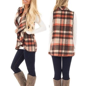 Rustic Fall Plaid Vest