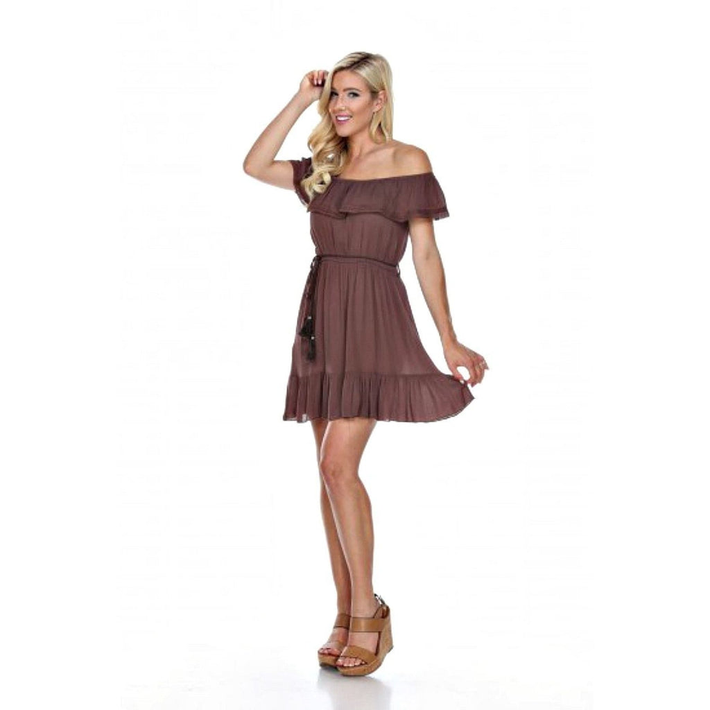 Melanie Dress in Chocolate - Dress